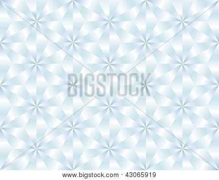 Seamless white and blue diamond background. Vector illustration poster