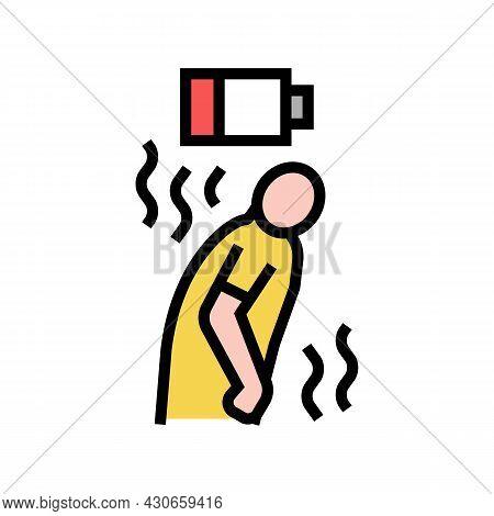Fatigue Human Hepatitis Color Icon Vector. Fatigue Human Hepatitis Sign. Isolated Symbol Illustratio