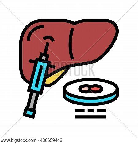 Liver Biopsy Color Icon Vector. Liver Biopsy Sign. Isolated Symbol Illustration