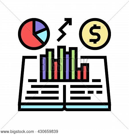 Economic History Color Icon Vector. Economic History Sign. Isolated Symbol Illustration
