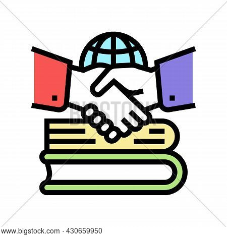 Diplomatic History Color Icon Vector. Diplomatic History Sign. Isolated Symbol Illustration