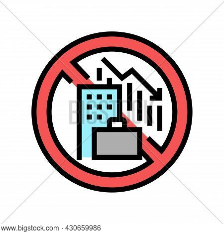 Lack Of Economic Opportunity And Unemployment Social Problem Color Icon Vector. Lack Of Economic Opp