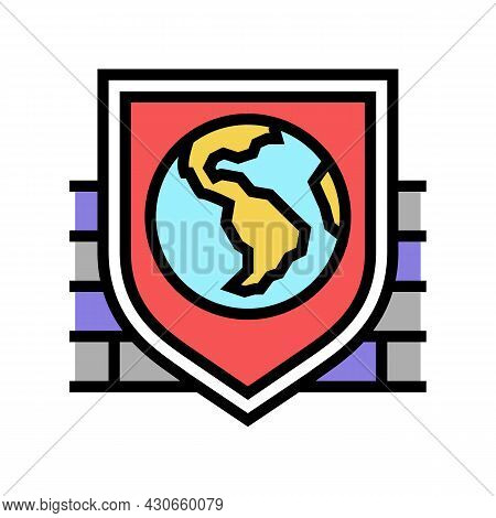 Safety, Security And Well Being Social Problem Color Icon Vector. Safety, Security And Well Being So