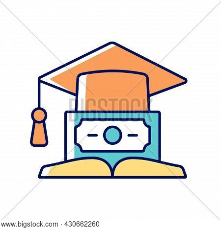 Education Loan Rgb Color Icon. Student Credit. Scholarship For College. Financial Literacy. Understa
