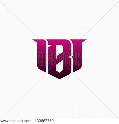 Esport Gaming Logo Modern Design Template Isolated On A White Background. E-sport Letter B Logo Desi
