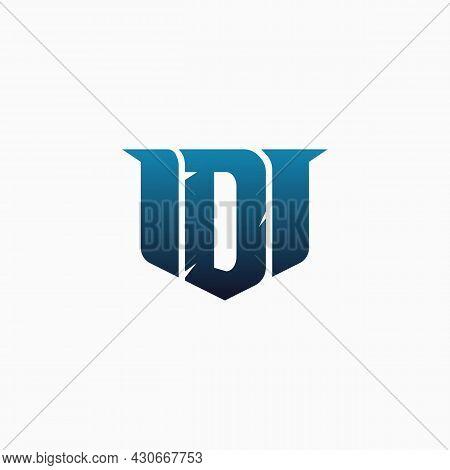 Letter D Gaming Esport Logo Design. Creative Logo.. E-sport Letter Logo Design Concept Template