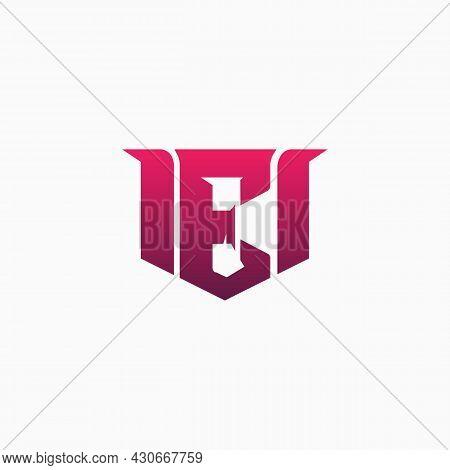 Esports Alphabet Logo Formed From The Letter E On A White Background. E-sport Letter Logo Design Con
