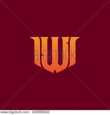 Letter W Game Logo Esport Gaming. E-sport Letter Logo Design Concept Template