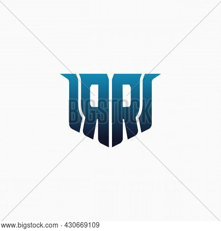 Letter Rr In A Unique Shape. Game Logo Design Template, Hobby, Esport Identity.. E-sport Letter Logo