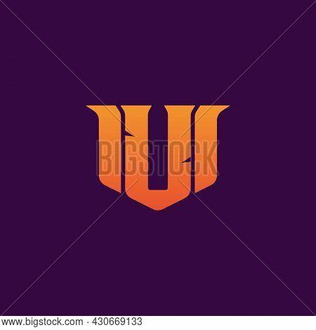 Letter U Esport Logo Design Template Inspiration. E-sport Letter Logo Design Concept Template