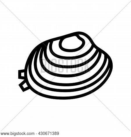 Manila Clam Line Icon Vector. Manila Clam Sign. Isolated Contour Symbol Black Illustration
