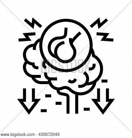 Hypopituitarism Endocrinology Line Icon Vector. Hypopituitarism Endocrinology Sign. Isolated Contour