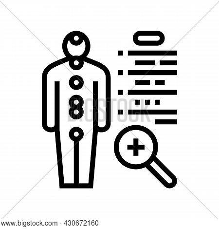 Human Health Examination Endocrinology Line Icon Vector. Human Health Examination Endocrinology Sign