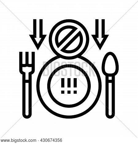 Loss Of Appetite Hepatitis Line Icon Vector. Loss Of Appetite Hepatitis Sign. Isolated Contour Symbo