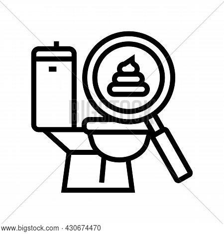 Pale Stool Hepatitis Line Icon Vector. Pale Stool Hepatitis Sign. Isolated Contour Symbol Black Illu