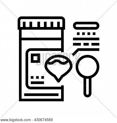 Dark Urine Hepatitis Line Icon Vector. Dark Urine Hepatitis Sign. Isolated Contour Symbol Black Illu