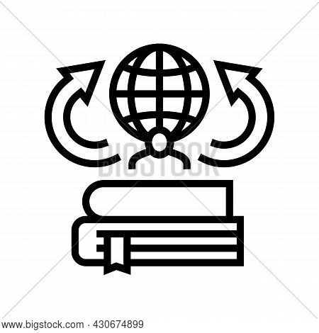Environmental History Line Icon Vector. Environmental History Sign. Isolated Contour Symbol Black Il