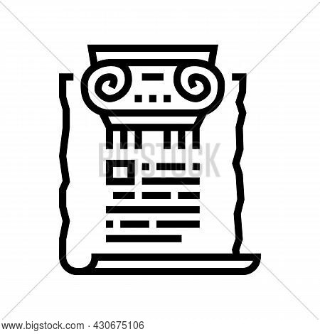 Ancient Rome History Line Icon Vector. Ancient Rome History Sign. Isolated Contour Symbol Black Illu