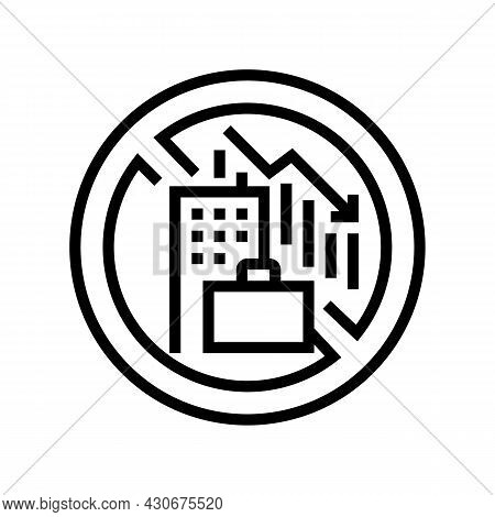 Lack Of Economic Opportunity And Unemployment Social Problem Line Icon Vector. Lack Of Economic Oppo