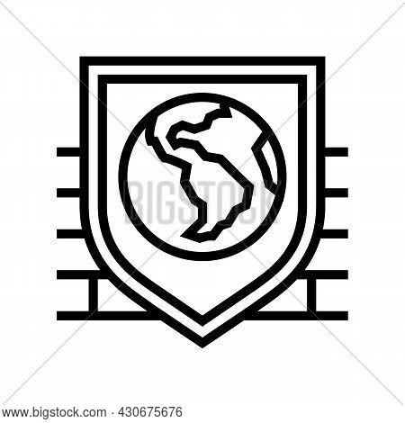 Safety, Security And Well Being Social Problem Line Icon Vector. Safety, Security And Well Being Soc