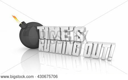 Times Running Out Bomb Countdown Deadline Warning 3d Illustration