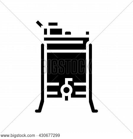 Honey Extractor Beekeeping Glyph Icon Vector. Honey Extractor Beekeeping Sign. Isolated Contour Symb