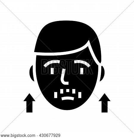 Precocious Puberty Endocrinology Glyph Icon Vector. Precocious Puberty Endocrinology Sign. Isolated