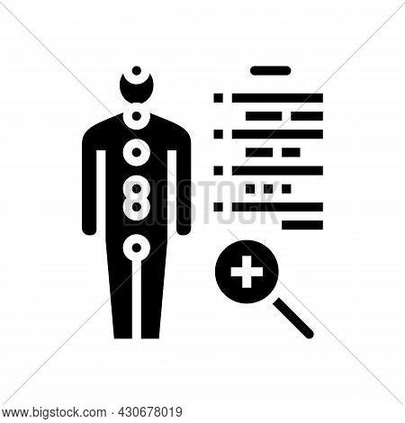 Human Health Examination Endocrinology Glyph Icon Vector. Human Health Examination Endocrinology Sig