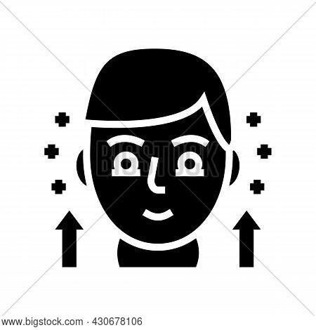 Hypothyroidism Endocrinology Glyph Icon Vector. Hypothyroidism Endocrinology Sign. Isolated Contour