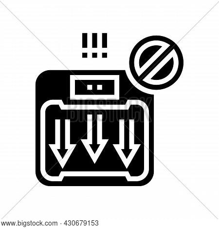 Unexplained Weight Loss Hepatitis Glyph Icon Vector. Unexplained Weight Loss Hepatitis Sign. Isolate