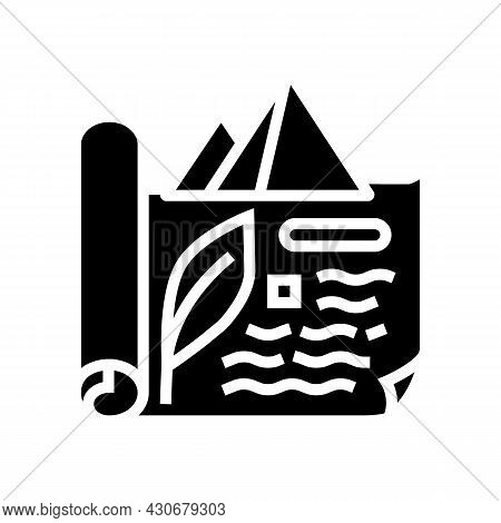 Ancient Egypt History Glyph Icon Vector. Ancient Egypt History Sign. Isolated Contour Symbol Black I
