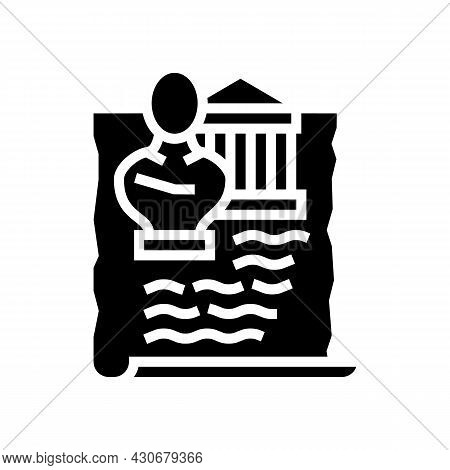 Ancient Greece History Glyph Icon Vector. Ancient Greece History Sign. Isolated Contour Symbol Black