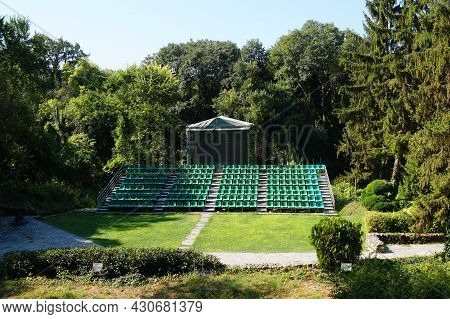 Empty Summer Open Air Theater In The Park