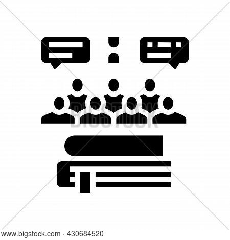 Social History Glyph Icon Vector. Social History Sign. Isolated Contour Symbol Black Illustration
