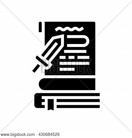 History Book Glyph Icon Vector. History Book Sign. Isolated Contour Symbol Black Illustration