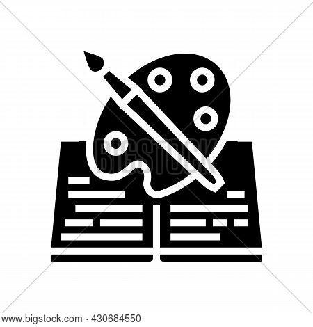 Art History Glyph Icon Vector. Art History Sign. Isolated Contour Symbol Black Illustration