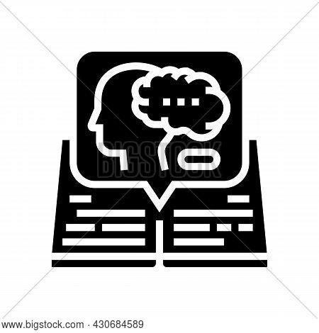 Intellectual History Glyph Icon Vector. Intellectual History Sign. Isolated Contour Symbol Black Ill