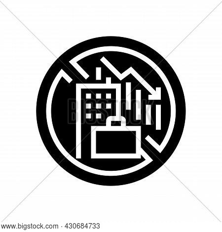 Lack Of Economic Opportunity And Unemployment Social Problem Glyph Icon Vector. Lack Of Economic Opp