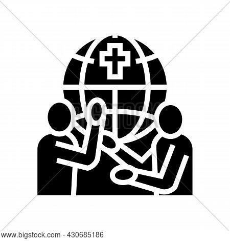 Religious Conflicts Social Problem Glyph Icon Vector. Religious Conflicts Social Problem Sign. Isola