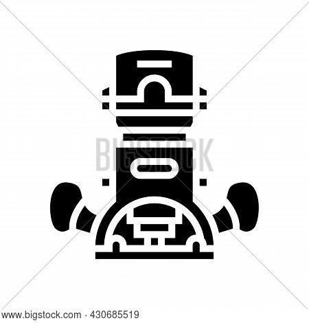 Wood Router Tool Glyph Icon Vector. Wood Router Tool Sign. Isolated Contour Symbol Black Illustratio