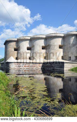 Brest, Belarus - August 2, 2021: Fifth Fort Of The Brest Fortress, Belarus. Garge Caponier. Fortific