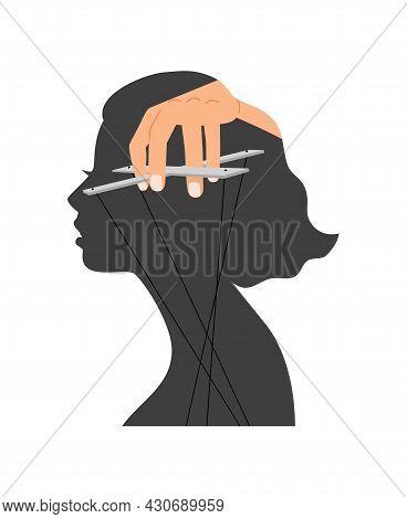 Woman Mind Control. Female Self Discipline, Negative Hormones And Emotions Control, Problems Boundar
