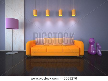 Purple Orange Interior Design