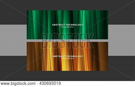 Set Of Banner Background Futuristic Geometric And Seamless Pattern Gradients Design. Abstract Futuri