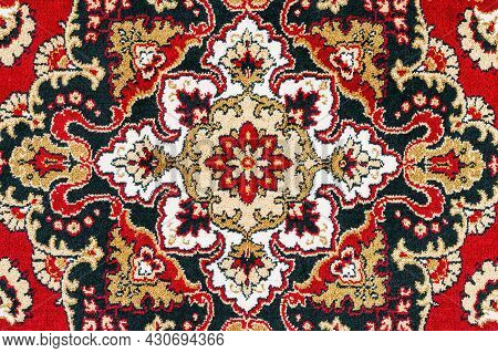 Oriental Persian Carpet Texture Background With East Patterns