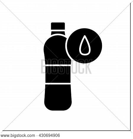 Water Bottle Glyph Icon.sport Or Performance Drink With Liquid. Concept Of Hydrationwater Balance Du