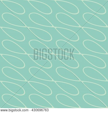 Infinity Symbol Sign Vector Seamless Pattern Background. Light Blue Backdrop With Diagonal Loops In