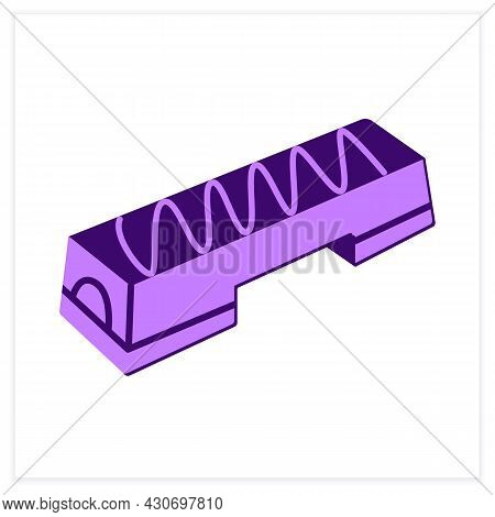 Aerobic Stepper Flat Icon. Fitness Stepper Platform Gym Equipment. Concept Of Aerobics, Step Class T