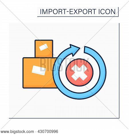 Irrevocable Color Icon. Not To Be Revoked Or Recalled. Cargo Unable To Be Repealed Or Annulled.impor