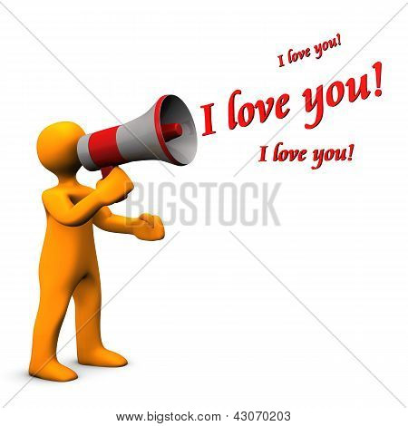 Megaphone I Love You